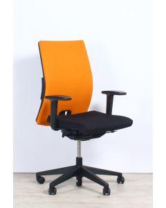 Haworth Comforto D3975P Bureaustoel, zwart/oranje gestoffeerd