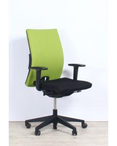 Haworth Comforto D3975P Bureaustoel, zwart/groen gestoffeerd
