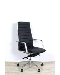 *** ALS NIEUW! *** Sitland Vega L executive, high back, bekleed met zwart leder