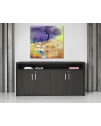 Dressoir kast, Manage-IT, 89x168x42 cm, black oak