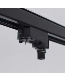 Hanglampadapter voor 3-fase rail, zwart