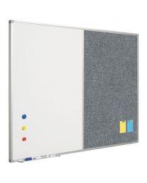 Combi prikbord - whiteboard, 120 x 90 cm