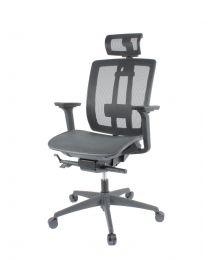 FYC 216D bureaustoel, EN1335, volledig in mesh uitgevoerd