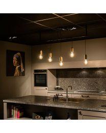 Beton hanglamp, 5 lichtpunten