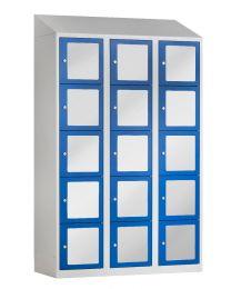 Premium lockerkast met acrylglas, 3 kolommen
