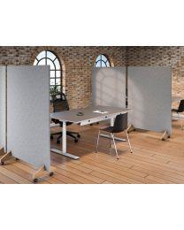 Verrijdbare scheidingswand Cube Design, gestoffeerd, geluidswerend, 100cm breed