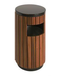 Buiten afvalbak, 33 liter, met houtlook
