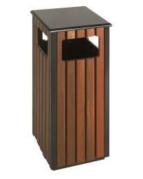 Buiten afvalbak, vierkant model, 36 liter