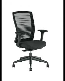 Vlora bureaustoel, EN1335, met mesh rug