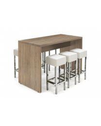 Houten bartafel van 110 cm hoog, 160 x 80 cm