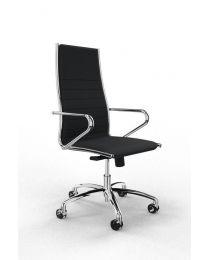 Classic executive bureaustoel, met hoge rugleuning