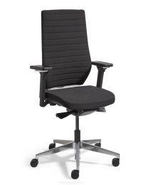 Olivia NPR-1813 design bureaustoel, zwart gestoffeerd