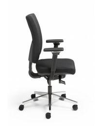 Alant NPR-1813 bureaustoel, zwart gestoffeerd