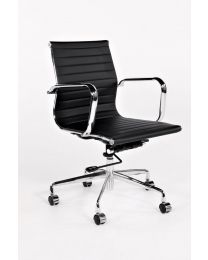TrendZ direct met medium rug, verrijdbaar, in zwart of wit kunstleder