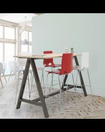 Design bartafel Alan, 110 cm hoog, 180 x 80 cm