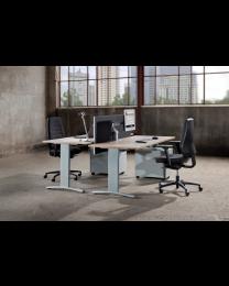 Entrada bureau, 120 x 80 cm, hoogte instelbaar