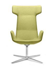 Flexi Lounge fauteuil [FL-BR, F27], draaibaar, op stervoet, zonder kantelfunctie