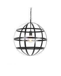Metalen bol hanglamp, zwart, Ø50cm