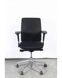 Cross bureaustoel, EN1335, zwart gestoffeerd
