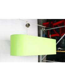 Hanglamp, lime groen, 140b x 40d x 40h, zonder lichtbronnen