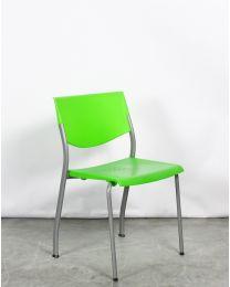 Ahrend 460 kantinestoel, 4-poots model, groen kunststof