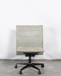 Pro-office verrijdbare designstoel, grijs gestoffeerd