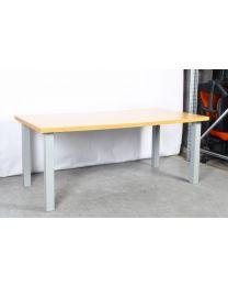 Pro-Office N-poot vergadertafel, 180 x 90 cm, robuust beuken blad