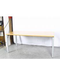 Pro-Office N-poot bureau, inbus verstelling, 180x80 cm, beuken blad