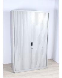 Samas roldeurkast, lichtgrijs, hoog model, 195 x 120 cm, inclusief 4 legborden