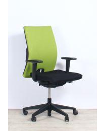 *** OPRUIMING *** Haworth Comforto D3975P Bureaustoel, zwart/groen gestoffeerd
