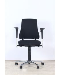 BMA Axia Office bureaustoel, zwart/chrome, NPR-1813, nieuw gestoffeerd