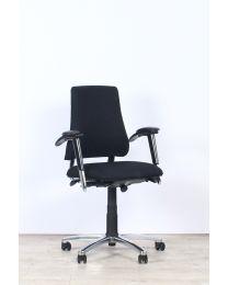 BMA Axia bureaustoel 2.2, zwart/chrome, NPR-1813, nieuw gestoffeerd