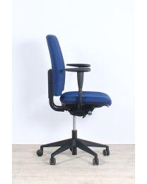CSP Simple bureaustoel, EN1335, blauw gestoffeerd, zwart voetkruis