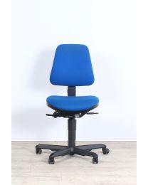 Dauphin Shape bureaustoel, EN1335, blauw gestoffeerd, zonder armleuningen