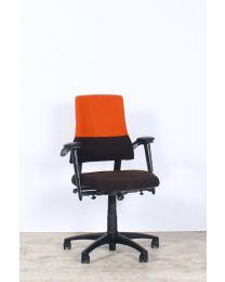 BMA Axia Office bureaustoel, NPR1813, bruin-oranje