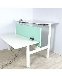Ahrend Balance duo elektrisch zit/sta bureau, NPR1813, 160x80 cm, compleet in wit