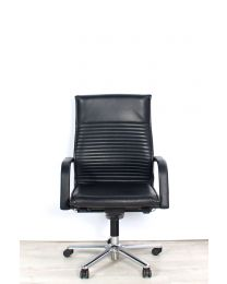 Wilkhahn FS220/9 Management bureaustoel, bekleed met leder, volledig behandeld