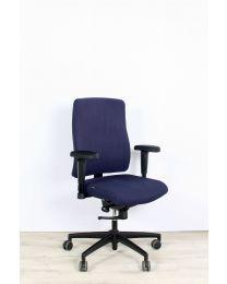 Interstuhl 162Q bureaustoel, EN1335, blauw gestoffeerd