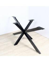 Los onderstel, stervormige voet voor rechthoek tafel, vaste hoogte 73,5 cm, in diverse kleuren