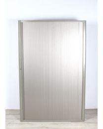 Eco-office roldeurkast, taupe/alu, hoog model, 195x127x45 cm, inclusief 4 legborden