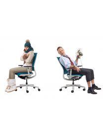 Klöber Mera Klimastoel, verwarmde bureaustoel