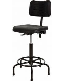 Werkstoel KM200, rubberschuim zitting en rug