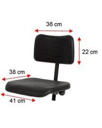 Werkstoel KM160, rubberschuim zitting en rug