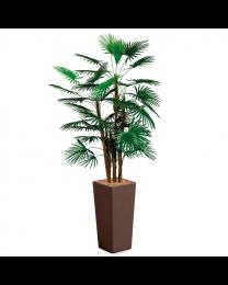 Kunstplant Rhapis Palm in sierpot Clou vierkant - H185