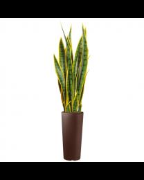Kunstplant Sansevieria in sierpot Clou rond - H115