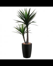 Kunstplant Yucca in sierpot Genesis rond - H150