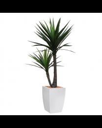 Kunstplant Yucca in sierpot Genesis vierkant - H150
