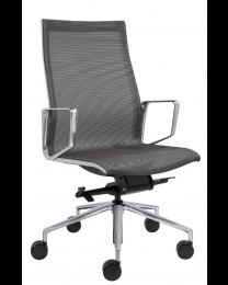 Lexi design bureaustoel, in mesh stoffering