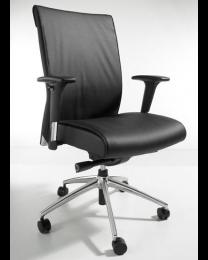 Lotus EN-1335 bureaustoel, zwart kunstleder