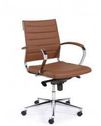 Luxor Medium, luxe directie stoel, in 3 kleuren kunstleder